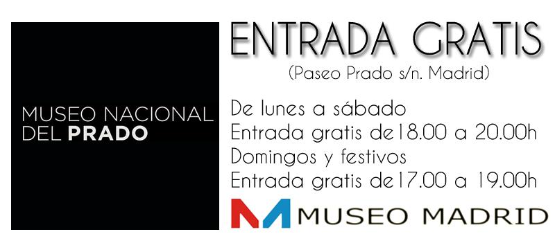 entrada gratis al museo del prado de madrid
