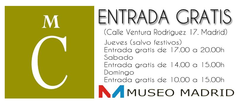 entrada gratis al museo cerralbo