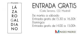 entrada gratis al museo lazaro galdiano madrid