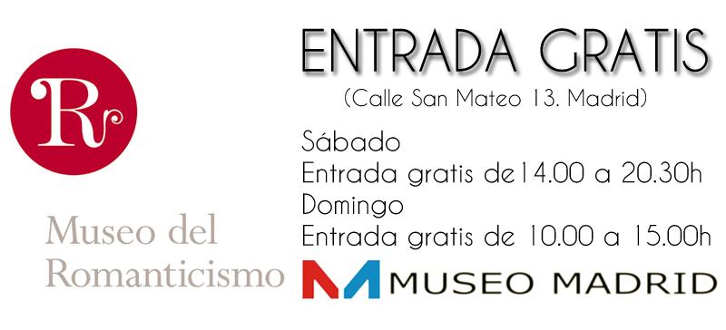 entrada gratis al museo del romanticismo madrid