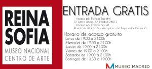 entrada gratis al museo reina sofia de madrid